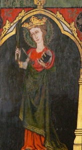 An Unidentified Female Saint, Løgumkloster Church (Photographed by Wolfgang Sauber from Wikimedia Commons)
